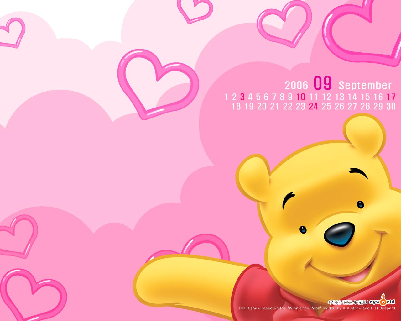 Winnie The Pooh Love Pink - Winnie The Pooh Love Pink