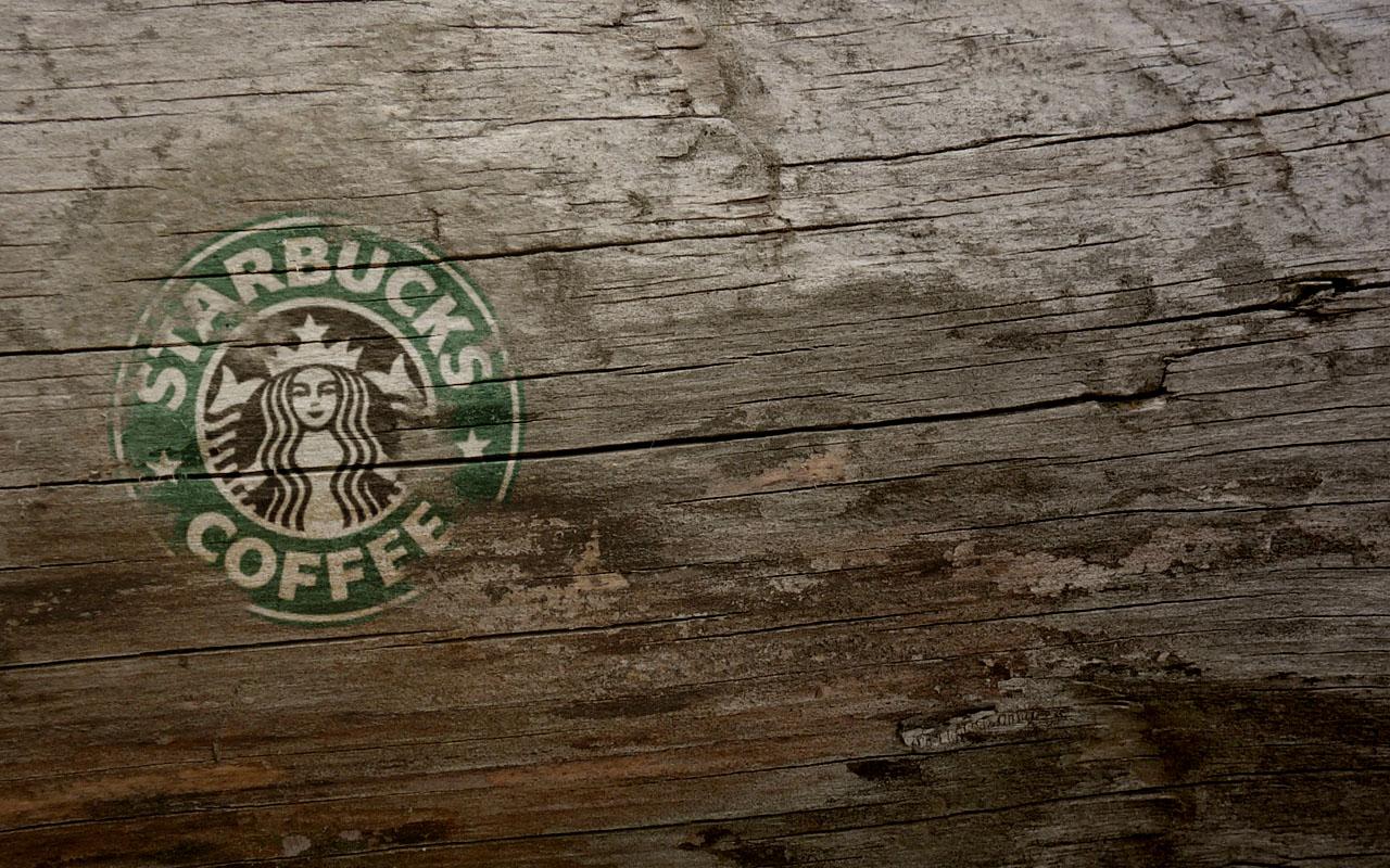 Wooden Starbucks Coffee Logos Brands