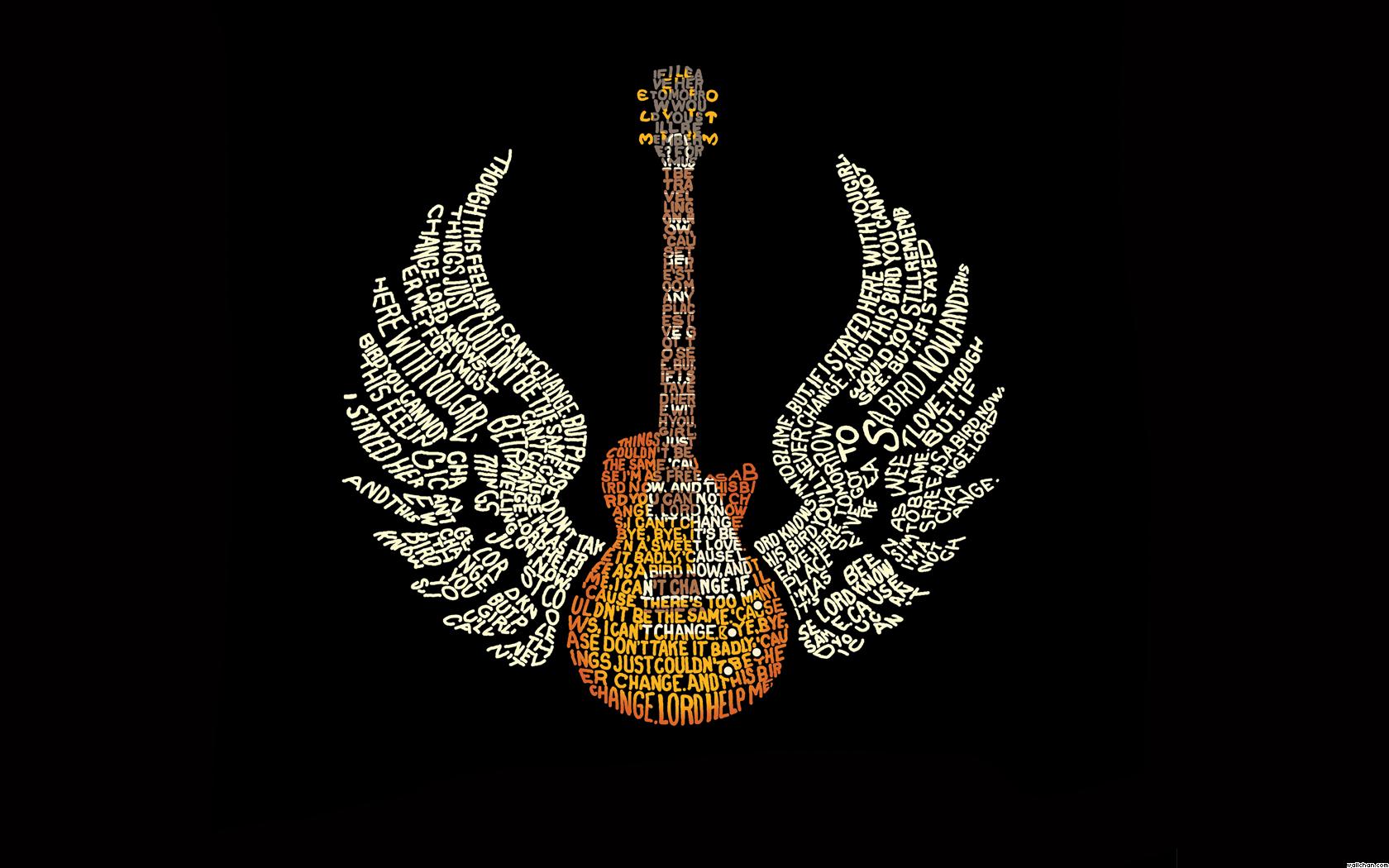 Black Guitar Wallpaper - Black Guitar Wallpaper