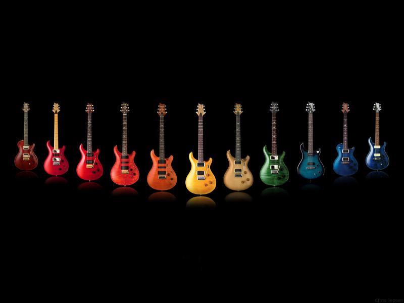 Colorfull Guitars Wallpaper - Colorfull Guitars Wallpaper