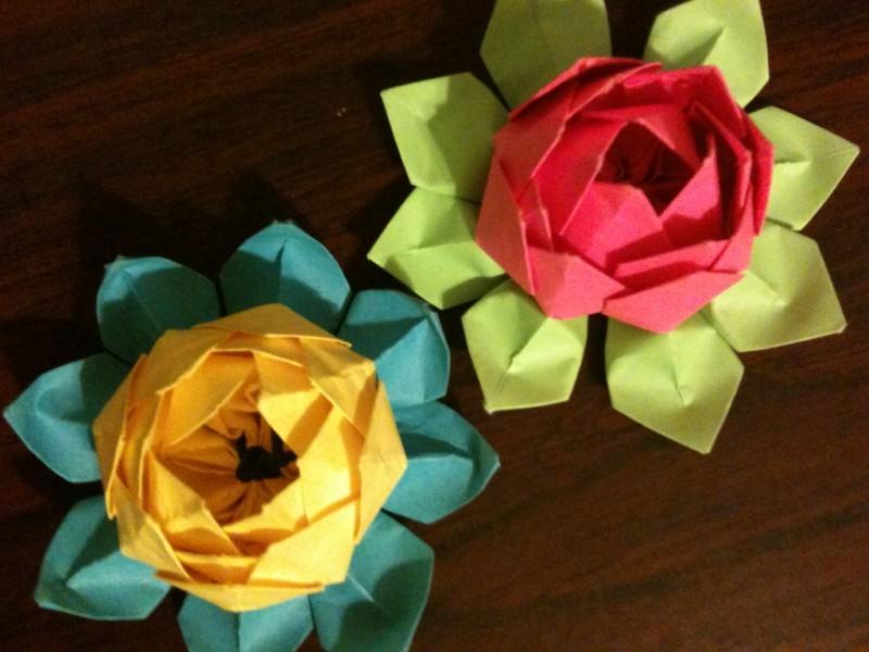 Origami Paper Lotus - Origami Paper Lotus