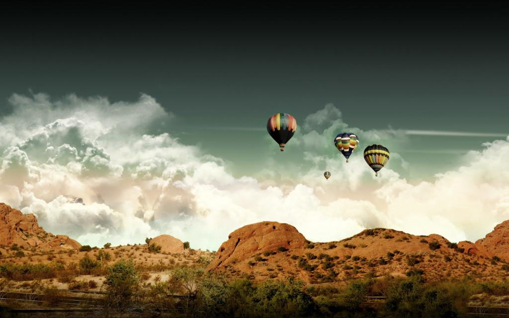 Hot Air Balloon Flying - Hot Air Balloon Flying