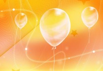 Oranges Background Balloon - Oranges Background Balloon