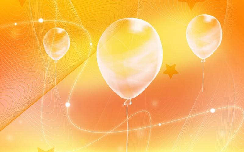 Oranges Background Balloon - Oranges Background Balloon