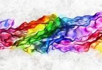 Rainbow Shawl Abstract - Rainbow Shawl Abstract