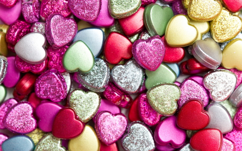 Shapped Candy Heart Sprinkles - Shapped Candy Heart Sprinkles
