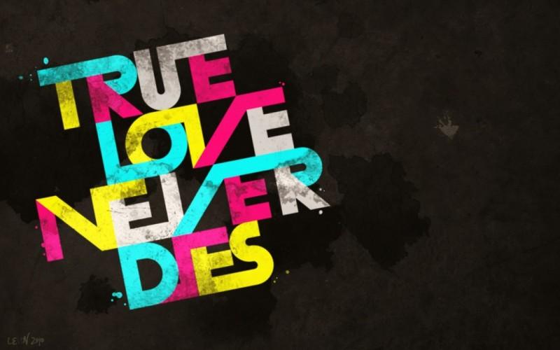 True Love Text Art - True Love Text Art
