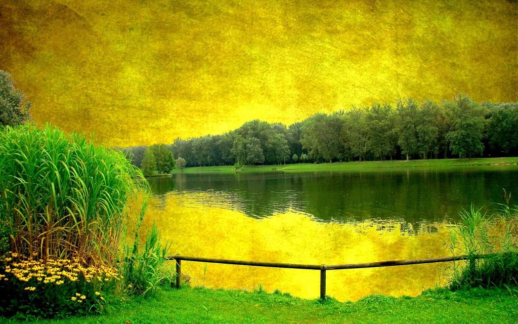 Yellow Lakes Landscape - Yellow Lakes Landscape