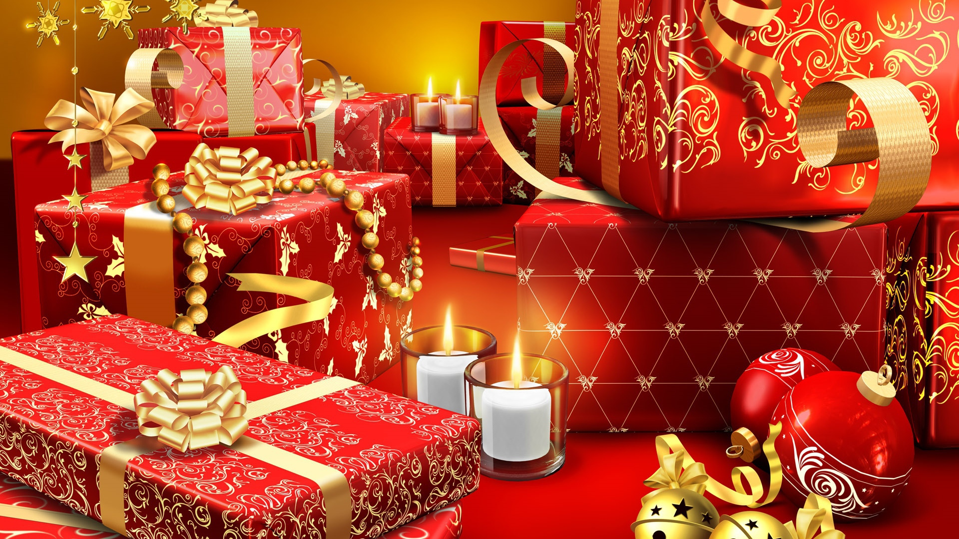 Red And Gold Christmas Gifts Christmas
