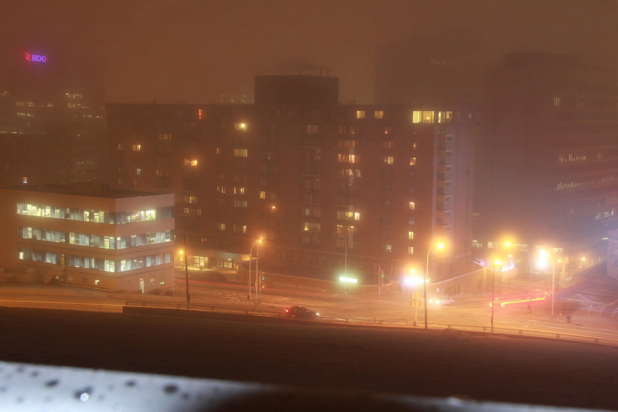 Foggy Night In Halifax Cities