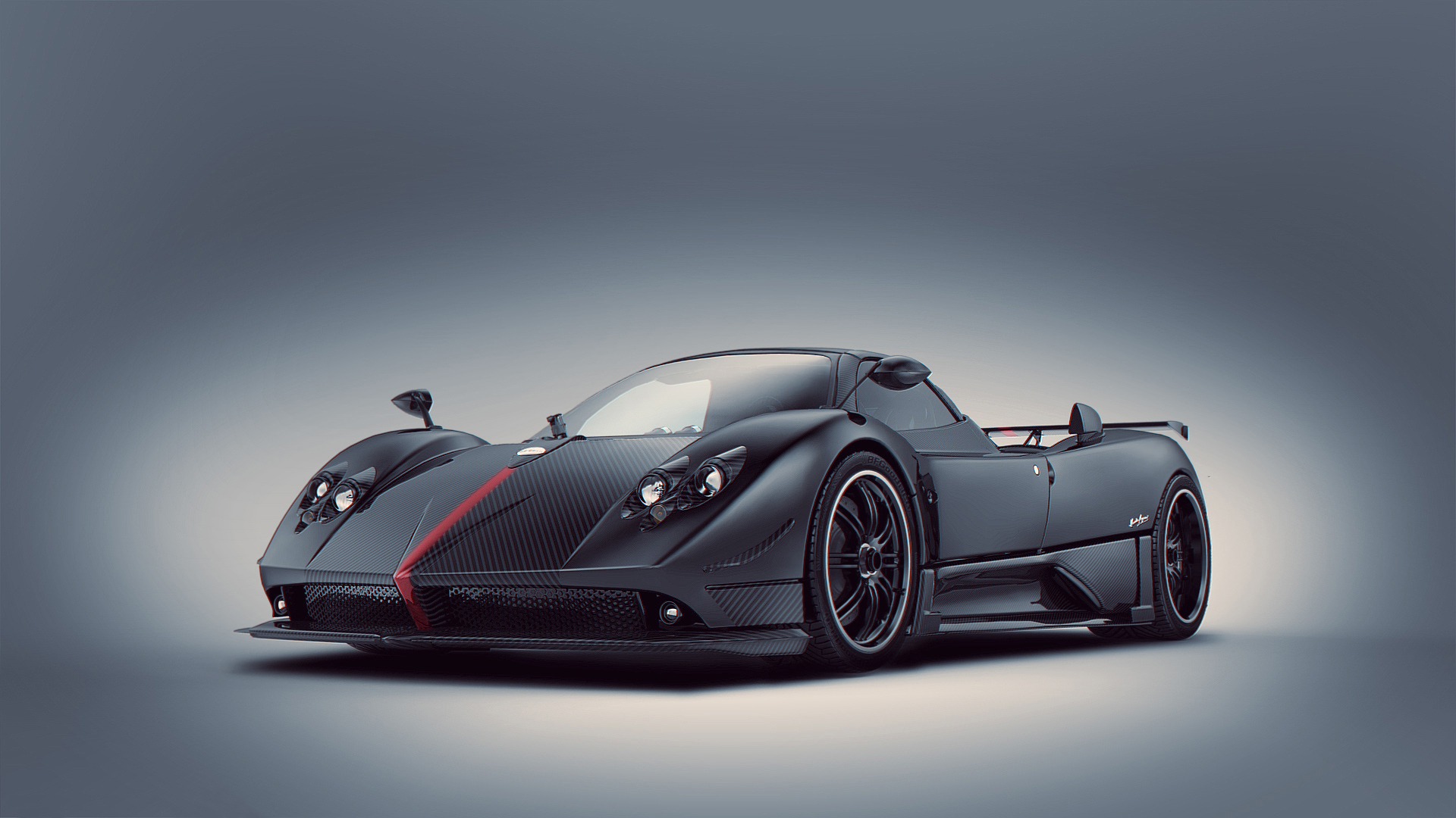 Black And Red Pagani Zonda R Cars