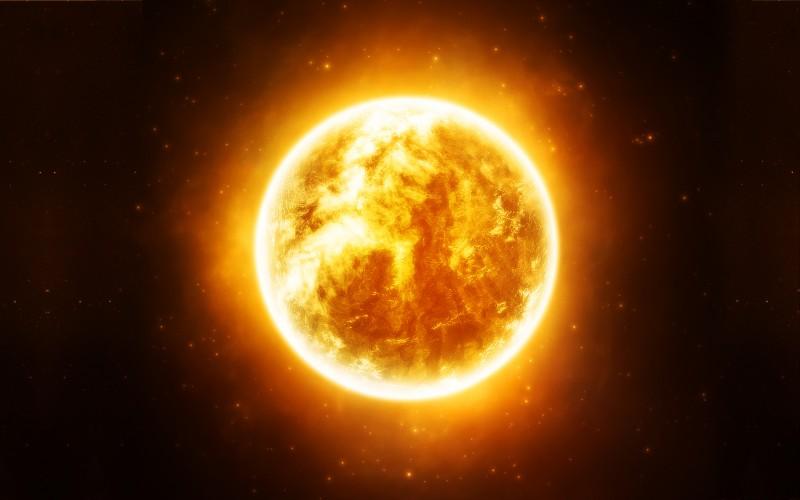 Close Up Of An Orange Sun Space
