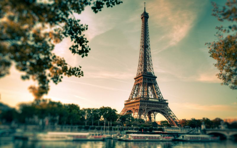 Eiffel Tower Above Seine