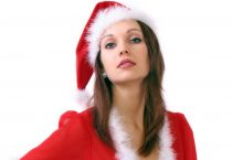 Pretty Woman Dressed as Santa