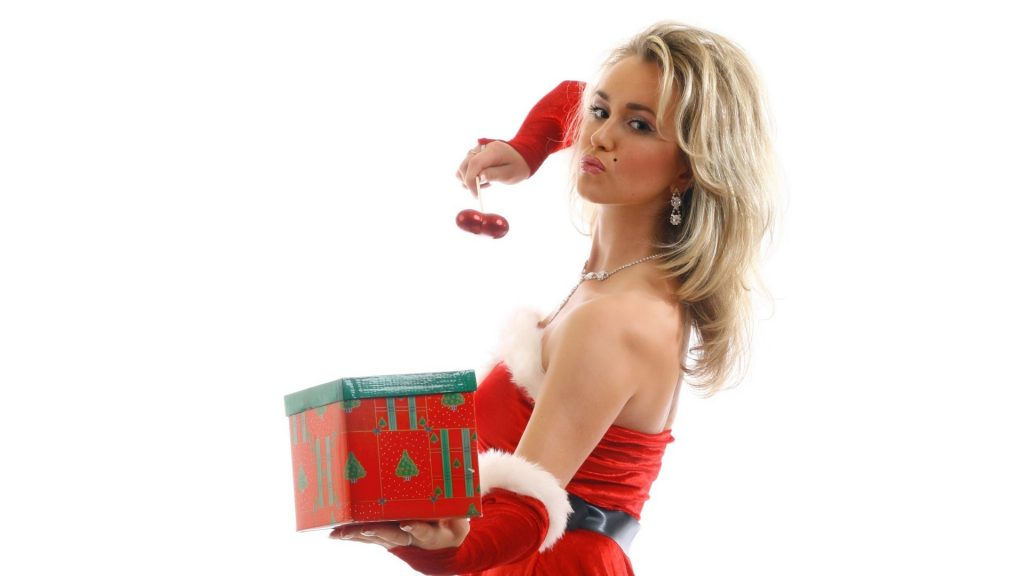 Lady Santa with Gift