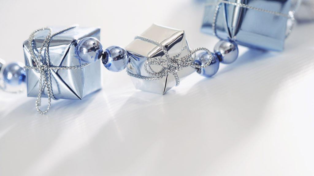 Silver-Blue Presents HD Wallpaper